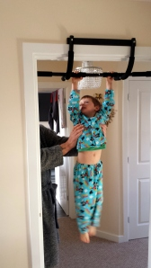 Jack's attempt at some pull ups!